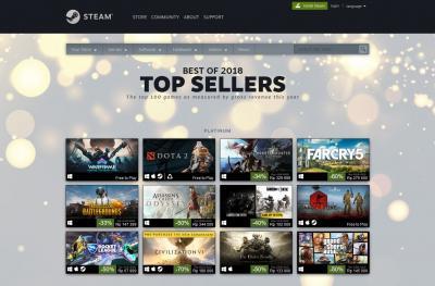Art7wing : Valve Umumkan Game Terlaris di Steam Sepanjang Tahun 2018